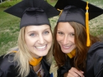 Rachel and Erin Ensminger...Graduation Day!!!