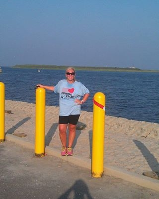 Shannon Rados Running for Rachel along the bay in Beach Haven, NJ!