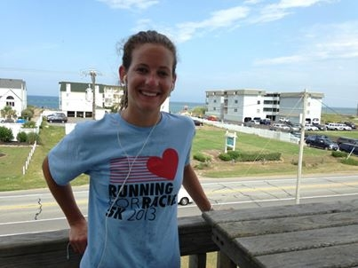 Katie Running for Rachel with a smile! Kill Devil Hills