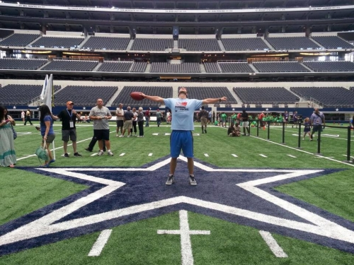 Justin is Running for Rachel at the Dallas Cowboys Stadium!!