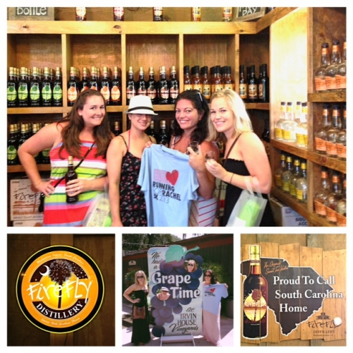 Sarah and friends took Rachel to the Firefly Distillery!!