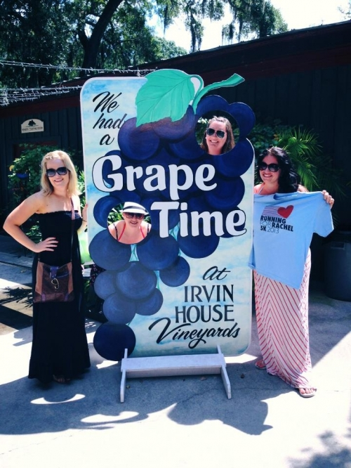 Sarah and friends also took Rachel to the Irvin House Vineyards...looks like a fun day!!!