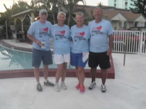 Malasheskies and Whitmires looking good and Running for Rachel in Madeira Beach, FL!!