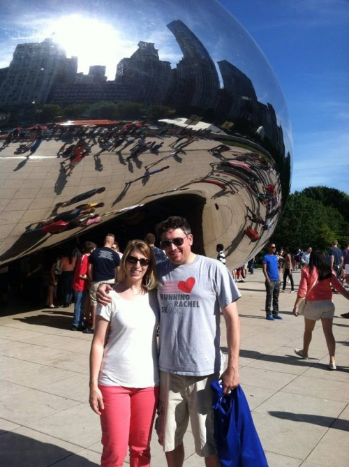 Kristin and Jacob visiting 'the bean' in Chicago!